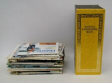 Lot of 55 Vintage National Geographic Maps w/ Official Box B4767
