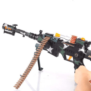 Army Commando Machine Gun Toy with Lights And Sounds Action Super Camouflage