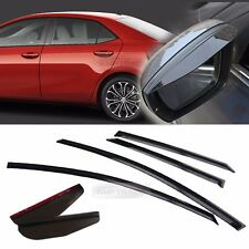 Smoke Window Vent Visors Side Mirror Rain Guard 6P For TOYOTA 2014-2017 Corolla