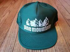 Vintage PINE MOUNTAIN Mesh Trucker Hat Advertising GREEN