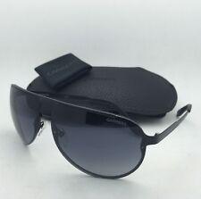 New Sunglasses CARRERA 102/S 003HD 65-11 Aviator Matte Black Frames w/ Grey Fade