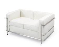 AUTHENTIC Cassina LC2 Petit Model 2-Seat Sofa White - DWR Modern