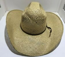 RODEO KING Straw Cowboy Western Hat Vented Size 7.5