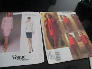 LOT of 2 UNCUT VOGUE SEWING PATTERNS #3