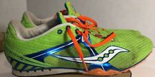 Men's Track And Field Saucony Velocity Spiked Shoes Size 10 EUC W/ Spike Wrench