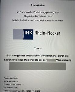 Projektarbeit 2021 Betriebswirt IHK 81 PUNKTE