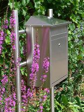 Edelstahl Standbriefkasten Briefkasten Postkasten Briefkastenständer u. Mailbox