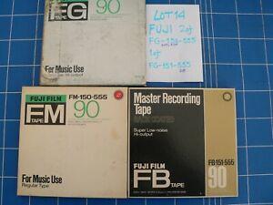 "FUJI 1/4"" R2R tapes on 7"" plastic reel, Lot 14, 3 of (see descriptions)"