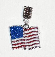 Pendant - America - Chain Pendant Usa Flag - Stars and Stripes -
