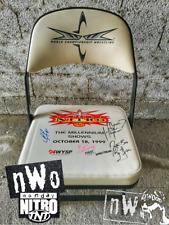 wwe wcw monday nitro ringside signed chair