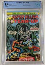 Super-Villain Team-Up #1 CBCS 9.4 NM WHITE Dr. DOOM Sub-mariner KEY 1975 not CGC