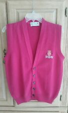GLENMUIR Mens Lambswool Vest  Pink Monte Carlo CC  Made in Scotland, XS