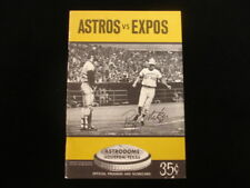 1972 Montreal Expos @ Houston Astros Program - Unscored