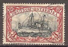 1901 German colonies EAST AFRICA  3 Rupien Yacht  used, TABORA  € 800.00