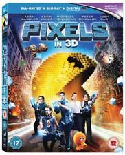 Pixels (Blu-ray 3D + Blu-ray) - Sealed NEW Blu-ray - Adam Sandler