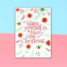 Viva Decor Clear Silicone Stamp Merry Christmas Scrapbooking Embossing DIY Cards