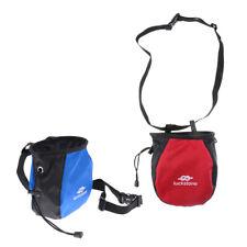 2pcs Chalk Bag Storage Pouch for Rock Climbing Gym w/ Drawstring Waist Belt