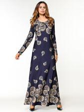 New Women Long Dress Muslim Dubai Kaftan Jilbab Islamic Maxi Dress Lady Abaya XL