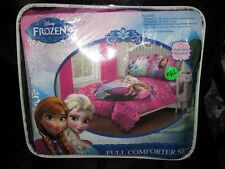 Disney Frozen Bed Set Full Size Comforter W/Fitted Sheet,Pillowcases, Anna, Elsa