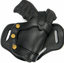 CEBECI Black Leather RH Small of Back SOB OWB Belt Holster - TAURUS PT140 G2