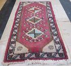 Unique Pattern Mini Turkish Floor Carpet Mat Hand Woven Wool Small Rug 1.5 x 2.8
