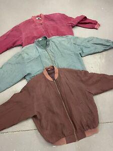 Wholesale Vintage Retro Silk Bomber Jackets Mixed X 100