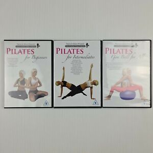 3x Pilates DVDs - Beginners ,Intermediates, Gym Ball For All - All Regions