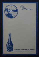 MENU DOLFI KIRSCH liquor liqueur ALSACE vierge French card restaurant vintage