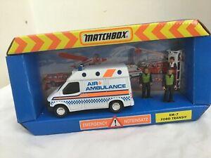 Matchbox EM-7 Ford Transit AIR AMBULANCE  including figures    BOXED