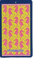 30 X 60 Inch Personalized Beach Pool Towel Wild Seahorses Design New