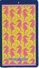 Youth Size 30 X 60 Inch Personalized Beach Pool Towel Wild Seahorses Design New