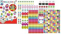 Reward Stickers, 1000 x 'Well Done' School Teachers stickers for kids / children