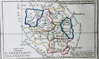 La Creuse en 1794 Evaux les Bains Ahun Felletin Chambon Aubusson Auzances Gueret