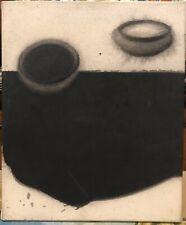 Tableau Abstrait Acrylique Pigment Madhu Basu Magma 172 Peintre Calcutta Inde
