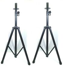 (2) Two Adjustable Tripod Speaker Stand with Mounting Internal Adapters(Top Hat)