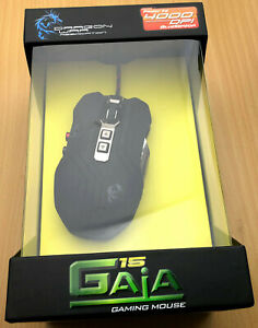 Dragon War ELE-G15-BK Gaming Mouse USB Blue Sensor Gaia 15