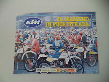 advertising Pubblicità 1986 MOTO KTM