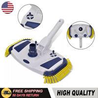Swimming Pool Vacuum Head Cleaner Brush Ground Sweeper Spa 2 Side Brushes US