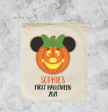 Personalised Minnie Mouse First Halloween Trick or Treat Bag Pumpkin Sack