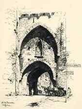 MECHELN - PORTE de BRUXELLES - MALINES - Luigi KASIMIR - Lithographie 1915