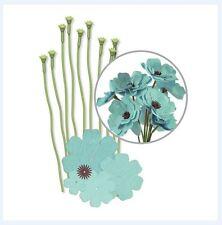 We R Memory Keepers ~ CREPE PAPER FLOWER KIT ~ TEAL ~ 10ct, Decorate ~ 42673-8