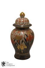 """Imari Porcelain Lidded Ginger Jar  Floral Painted Gilded Toyo Japanese 12"""" Vtg"""