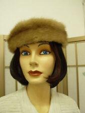 NEW PASTEL MINK FUR HEADBAND HAT WOMEN