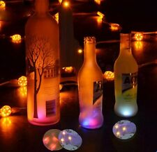 5 pcs New Sale Changing LED Light Bottle Cup Mat Coaster For Clubs Bar Party