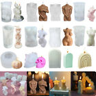 3D Body Candle Mold Silicone Soap Wax Mould Female/Male Craft Mould Halloween AU