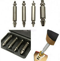 4pcs Screw Extractor Drill Bits Guide Set Broken Damaged Bolt Remover Easy Out