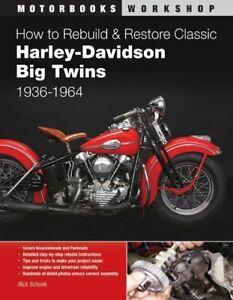 Harley Davidson Big Twins Knucklehead Panhead 1936-1964 Restoration Manual Book