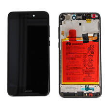 VETRO DISPLAY LCD FRAME BATTERIA ORIGINALE HUAWEI P8 LITE 2017 NERO PRA-LA1 LX1