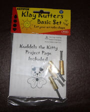 "Kemper Klay Kutters Plunge style cutters tiny 5/16"" 1 each of 4 shapes"