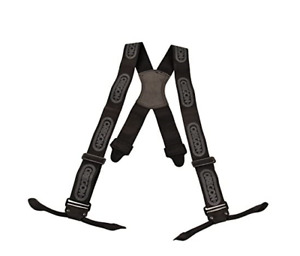OREGON 537804 Black Chainsaw Logger Braces with straps for buttons
